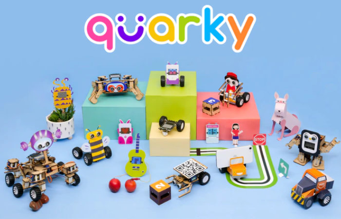 teach your kids to code with Quarky