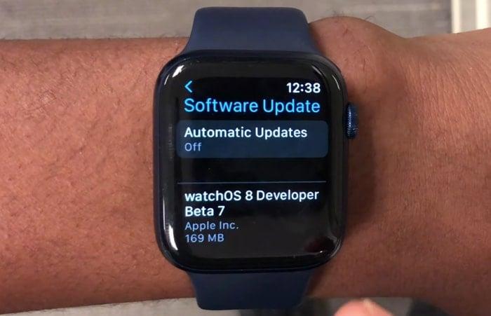 watchOS 8 beta 7