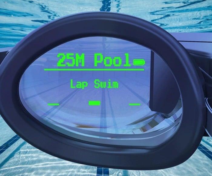 AR swimming goggles