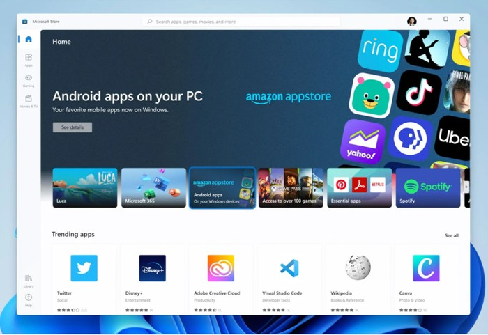 Android apps on your PC Xbox