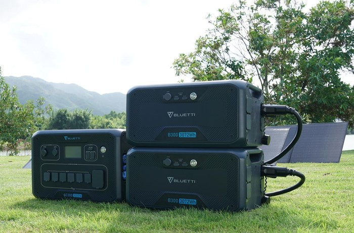 BLUETTI AC300 and B300 Solar Power Station