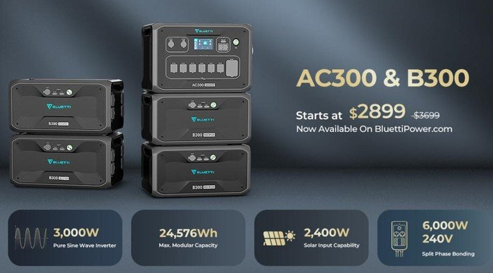 BLUETTI AC300 and B300 power stations