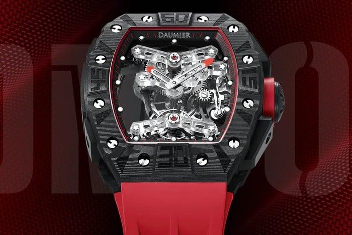 DAUMIER skeleton tourbillon watch