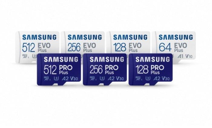Samsung EVO Plus and PRO Plus microSD cards