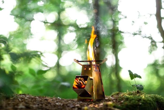 FireTower rocket stove cooker
