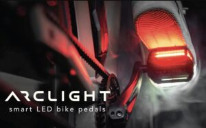 LED bicycle light pedals