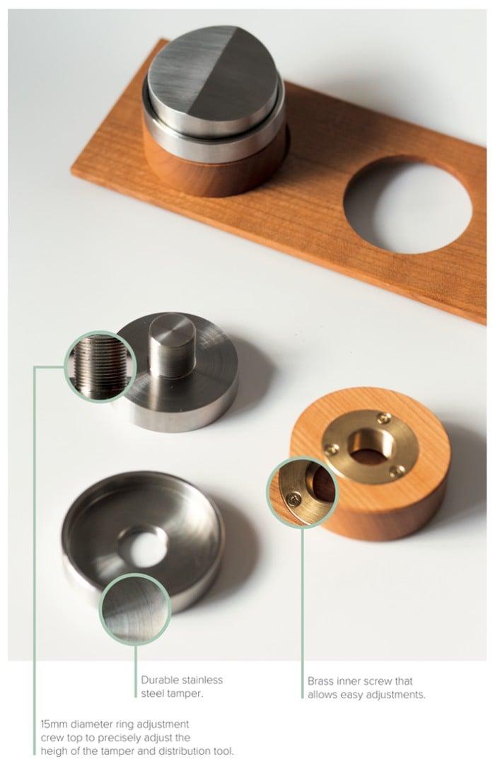 Modular coffee tamper kit
