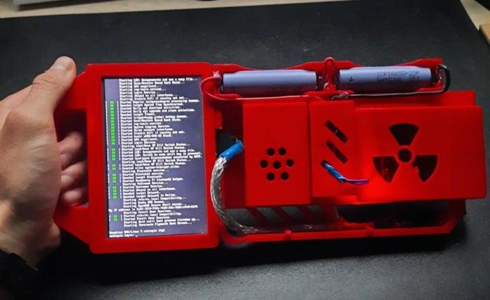 Raspberry Pi 3D printed cyberdeck