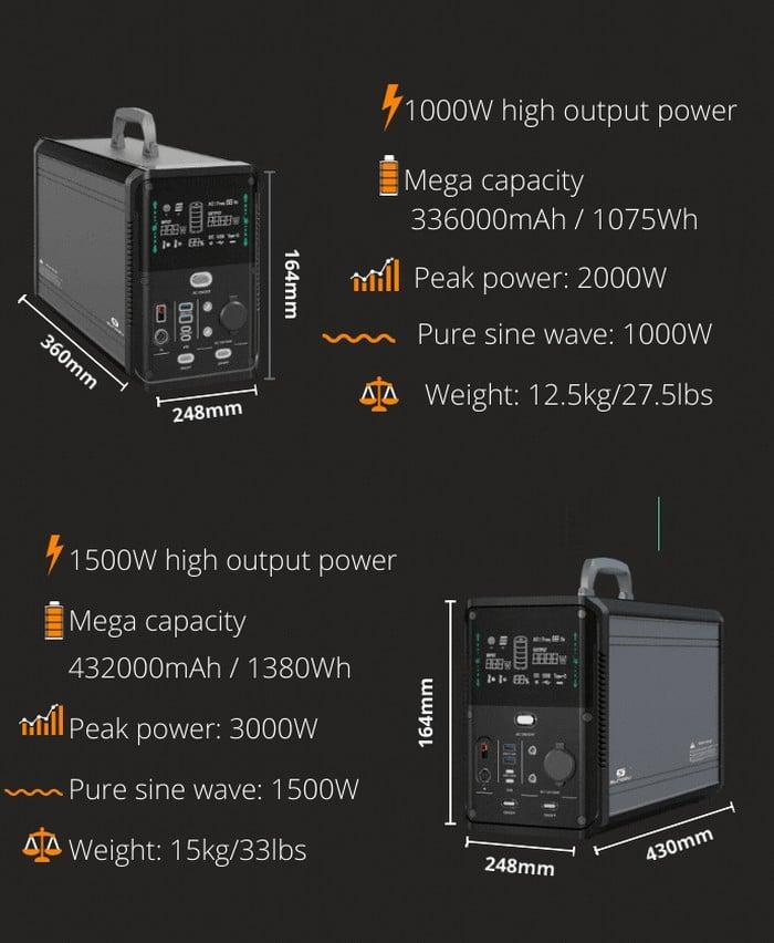 SUNGZU portable power station specs 2