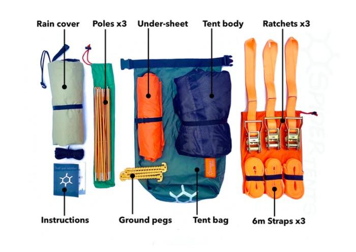 Spider Tree Tent Kit