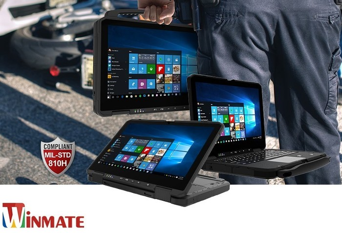 Winmate L140TG-4 14inch convertible rugged laptop