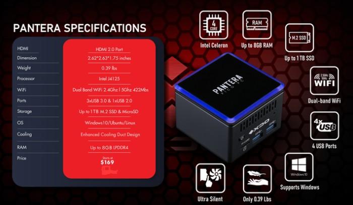 XDO 4K mini PC specifications