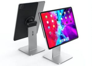 magnetic desktop iPad stand