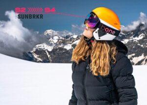 skiing goggles photochromic lens