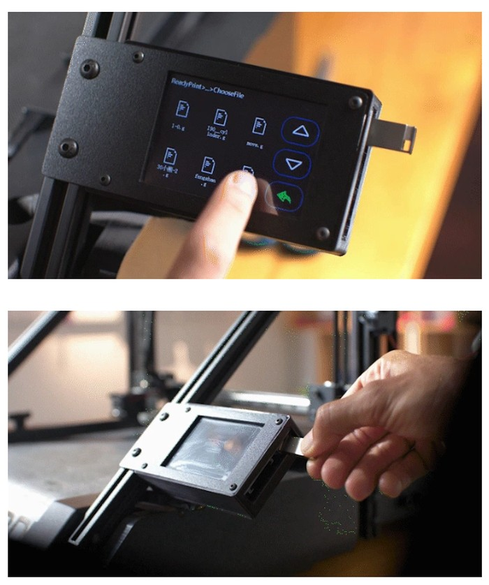 3D printer control panel