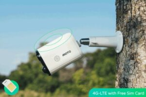 4G wireless outdoor security camera