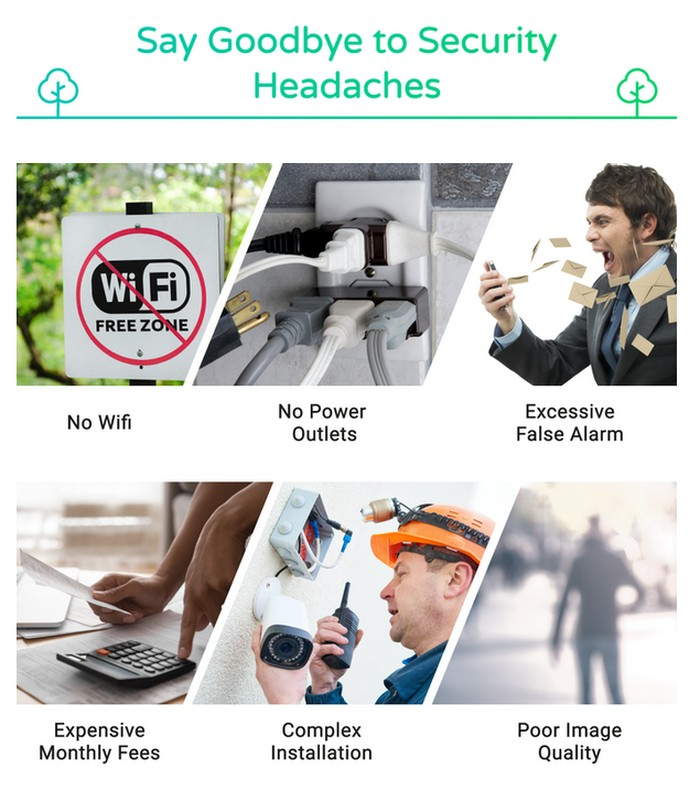 4G wireless security cameras