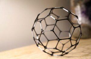 Buckyball carbon fiber C60 molecule