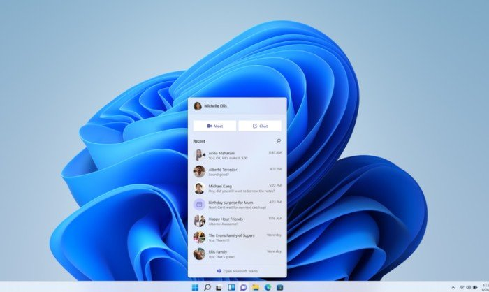 Chat from Microsoft Teams