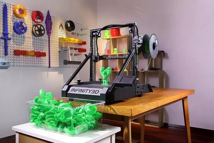 Infinity3D conveyor belt 3D printer