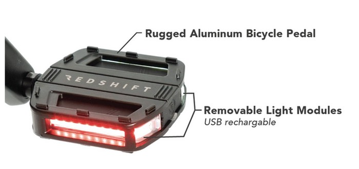 LED bicycle pedals