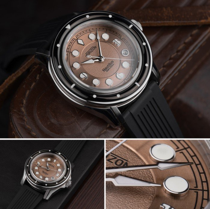 Nautilus dive watch brown
