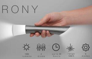 RONY flashlight Kickstarter