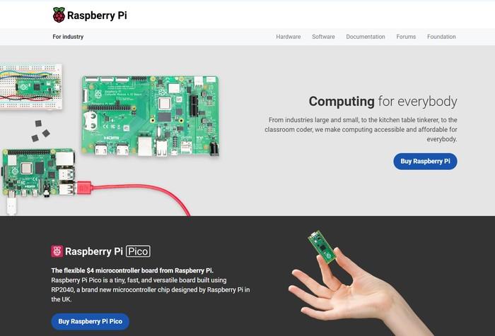Raspberry Pi website