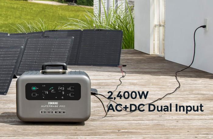 SuperBase Pro solar charging