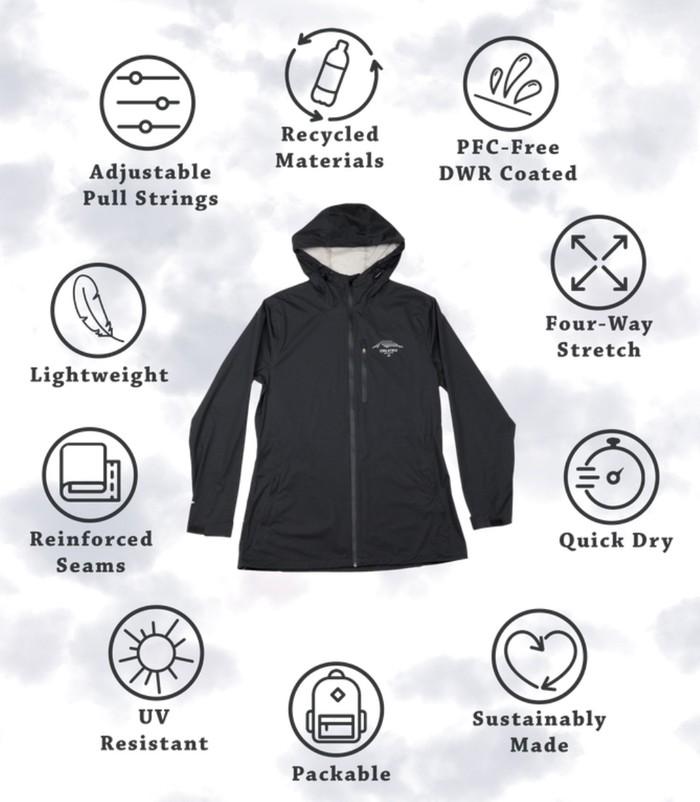 Features of the outdoor waterproof jacket